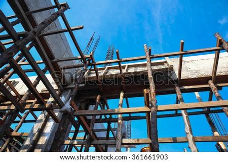 Construction steel stabilizer - stock photo