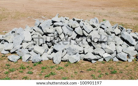 construction stones - stock photo