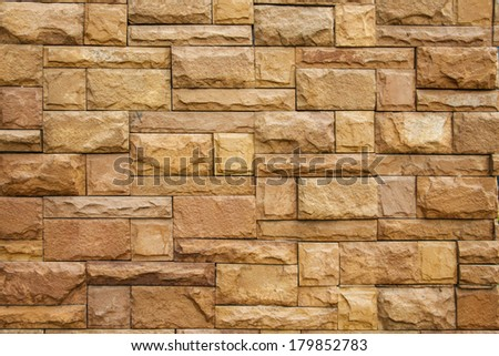 construction texture of brick stone wall for exterior background - stock photo