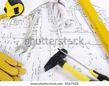 Construction tools - stock photo