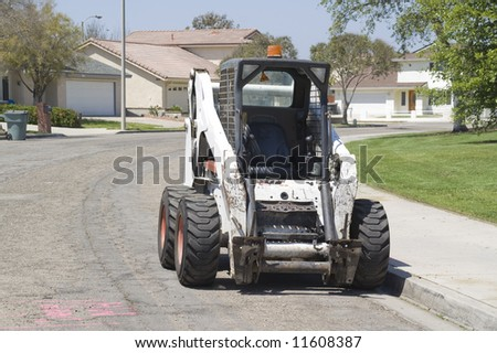 Construction Tractor - stock photo