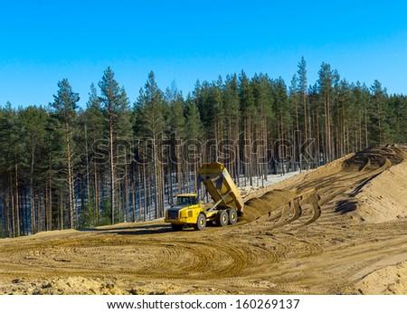 construction transport - stock photo