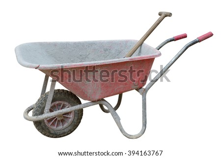 construction trolley isolated on white background - stock photo