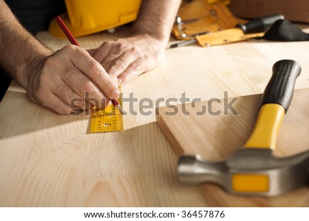 construction work - stock photo