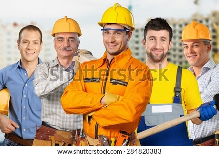 Construction Worker, Manual Worker, Construction. - stock photo