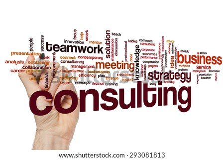 Consulting concept word cloud background - stock photo