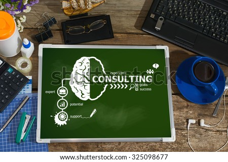 Consulting design concepts for business, consulting, finance, management, career. - stock photo