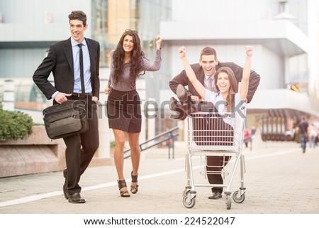 Consumer Rush - stock photo