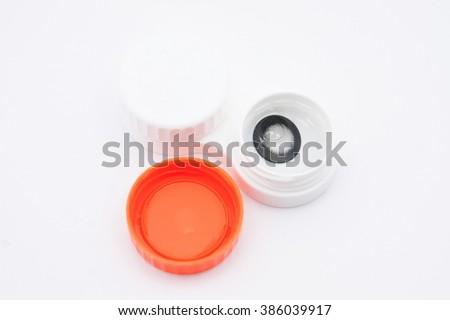 Contact Lens Box - stock photo