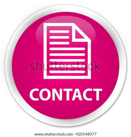 Contact (page icon) pink glossy round button - stock photo