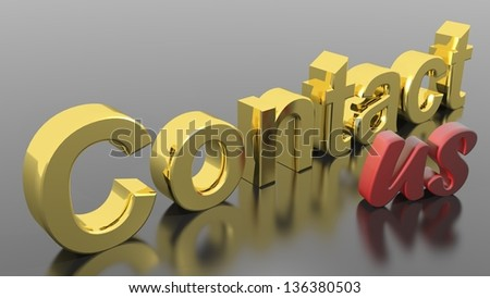 Contact us - stock photo