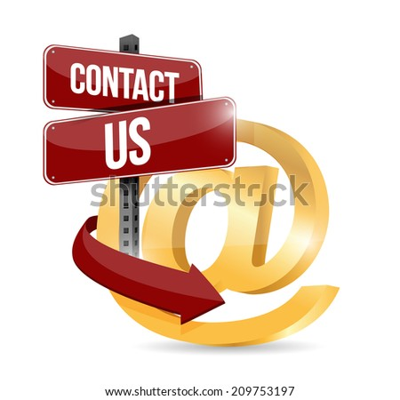 contact us at symbol illustration design over a white background - stock photo