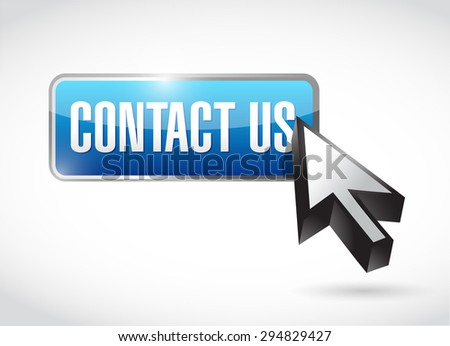contact us button sign concept illustration design graphic - stock photo