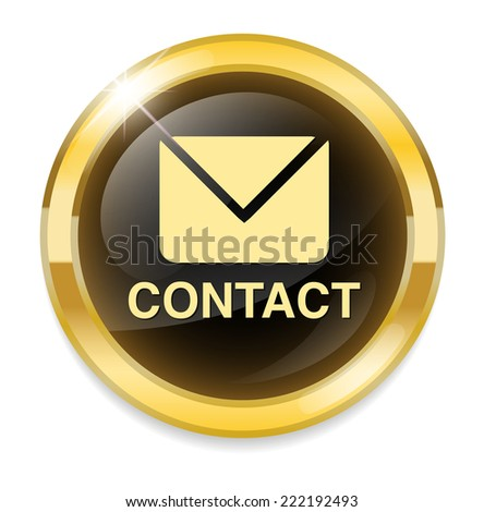 contact us icon - stock photo