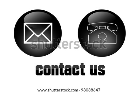 contact us signs - stock photo