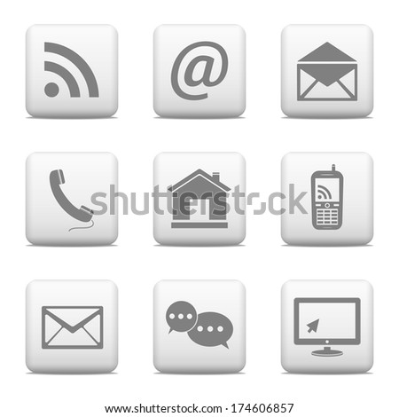 Contact web buttons  - stock photo