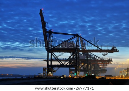 Container-crane - stock photo