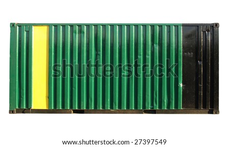 Container for freight shipping, isolated on white - stock photo
