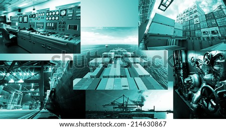 Container Operation Ultimate Collage Collection!!! - stock photo