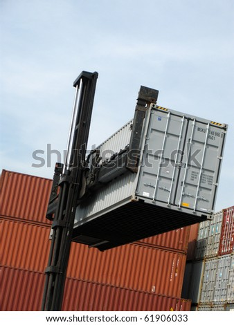 Container transport - stock photo