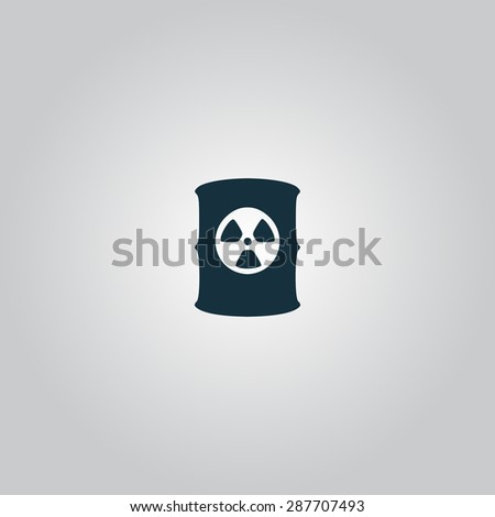 Container with radioactive waste. Flat web icon or sign isolated on grey background. Collection modern trend concept design style illustration symbol - stock photo