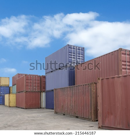Containers background - stock photo
