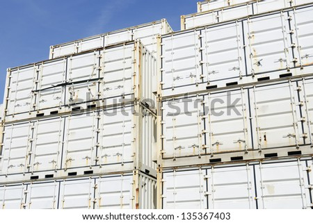 containers for transport - stock photo