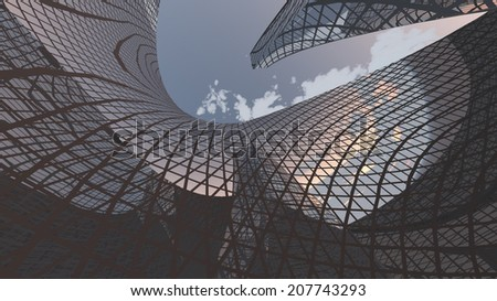 Contemporary Architecture - stock photo