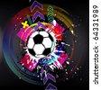 Contemporary Art. Football background. Raster version - stock photo