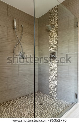 Shower stock photos images pictures shutterstock - Glass shower head ...