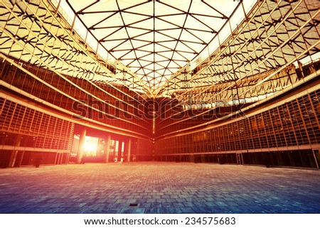 Contemporary building architecture in Milan - stock photo