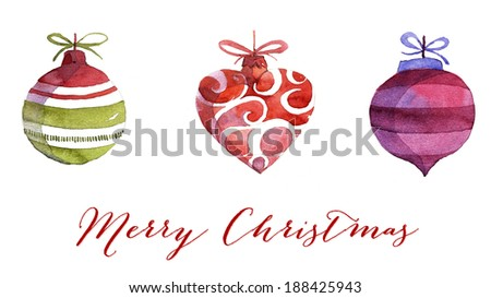 Contemporary Christmas greeting card - stock photo