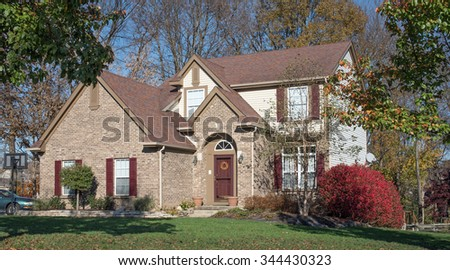 Contemporary Country Home - stock photo