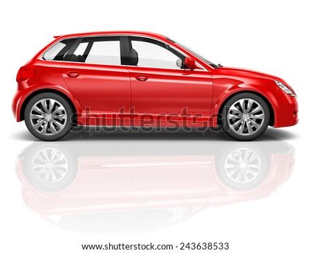 Contemporary 3D Shiny Luxury Transportation Performance Concept - stock photo