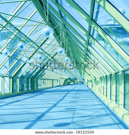 contemporary hall - stock photo