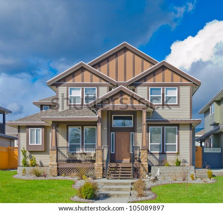 Contemporary home  in the suburbs of Vancouver. Canada. - stock photo