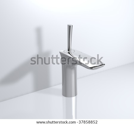 contemporary joystick faucet - stock photo