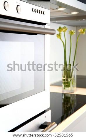 contemporary kitchen - stock photo