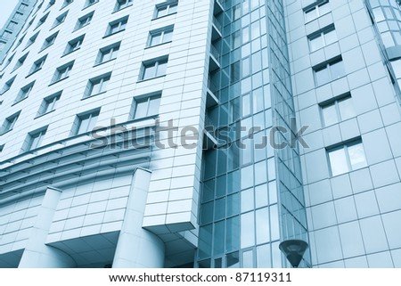 contemporary texture of modern downtown, management property - stock photo