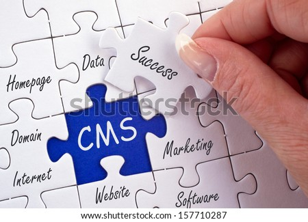 Content Management System - CMS - stock photo