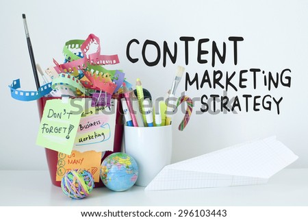 Content Marketing Strategy Business Concept - stock photo