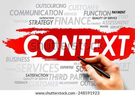 CONTEXT word cloud, business concept - stock photo