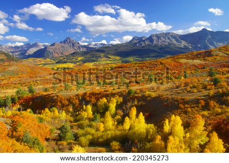 Continental divide landscape in Colorado - stock photo