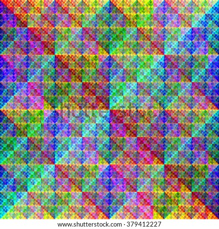 Continuous geometric iridescent pattern - stock photo