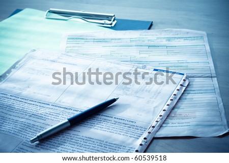 contract - stock photo