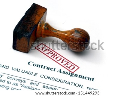 Contract assignment - stock photo
