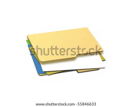 Contract folder - stock photo