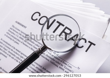 Contract, Law, Legal System. - stock photo
