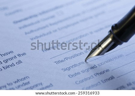 contract series , shot with very shallow depth of field, blue tone