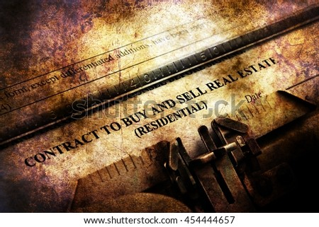 Contract to buy and sell - stock photo